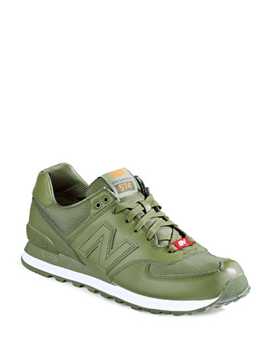 New Balance 574 Flight Jacket Sneakers-GREEN-10.5W 88505635_GREEN_10.5W