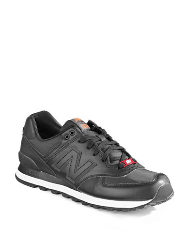 New Balance 574 Flight Jacket Sneakers-BLACK-7.5W 88505617_BLACK_7.5W