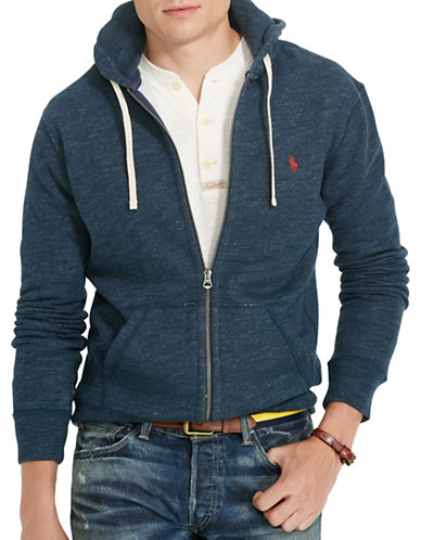 Polo Ralph Lauren Cotton-Blend-Fleece Hoodie-BLUE ECLIPSE-XX-Large