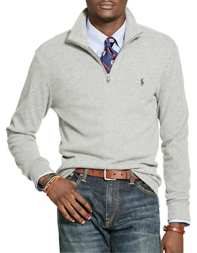 Polo Ralph Lauren Double-Knit Jacquard Pullover-GREY-Large 88524269_GREY_Large