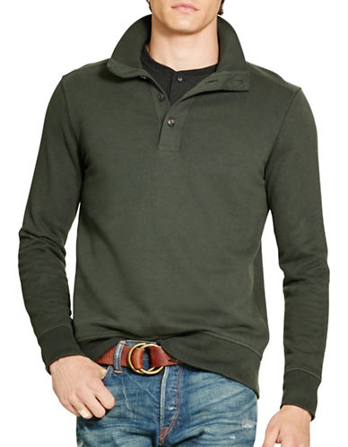 Polo Ralph Lauren Cotton French Terry Pullover-SQUADRON GREEN-X-Large 88525487_SQUADRON GREEN_X-Large