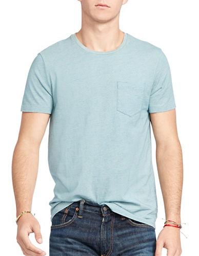Polo Ralph Lauren Indigo Cotton Jersey T-Shirt-LIGHT INDIGO-Large