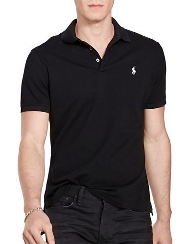 Polo Ralph Lauren Stretch-Mesh Polo Shirt-POLO BLACK-Small