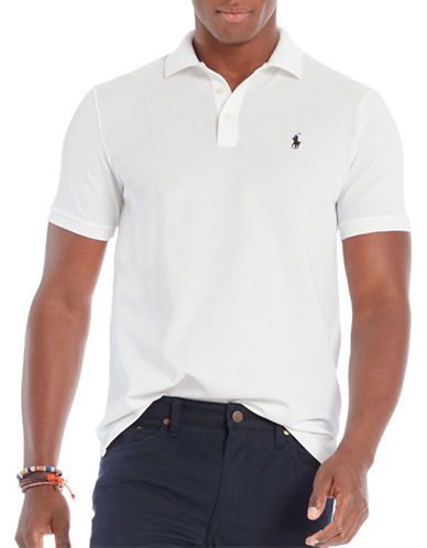 Polo Ralph Lauren Stretch-Mesh Polo Shirt-WHITE-Large