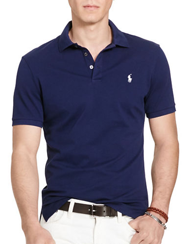 Polo Ralph Lauren Stretch-Mesh Polo Shirt-FRENCH NAVY-Small