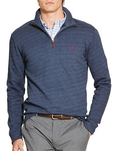 Polo Ralph Lauren Jacquard Fleece Pullover-NAVY-Small 88524574_NAVY_Small