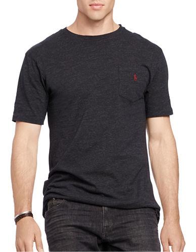 Polo Ralph Lauren Big and Tall Classic-Fit Jersey Pocket Crew Neck T-Shirt-BLACK-4X Big 88483561_BLACK_4X Big