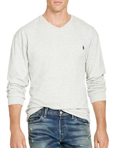 Polo Ralph Lauren Cotton Jersey V-Neck T-Shirt-LAWRENCE GREY-5X Big 88483873_LAWRENCE GREY_5X Big
