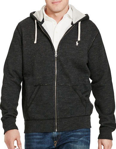Polo Ralph Lauren Cotton-Blend-Fleece Hoodie-BLACK-Large Tall 88833721_BLACK_Large Tall