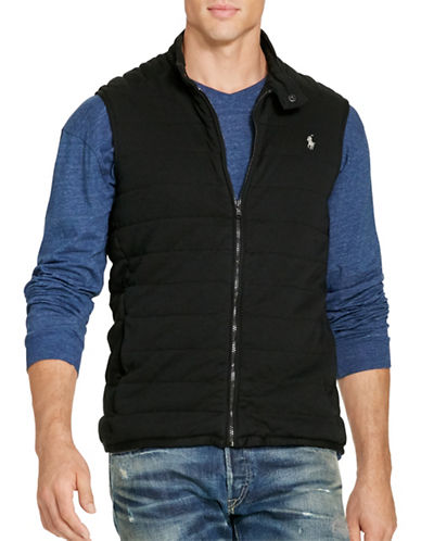 Polo Ralph Lauren Big and Tall Pima Cotton Interlock Vest-POLO BLACK-1X Tall 88484267_POLO BLACK_1X Tall