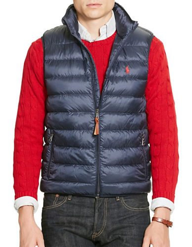 Polo Ralph Lauren Packable Down Vest-AVIATOR NAVY-X-Large