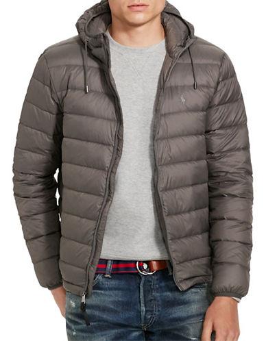 Polo Ralph Lauren Packable Down Jacket-VINTAGE GREY-X-Large plus size,  plus size fashion plus size appare