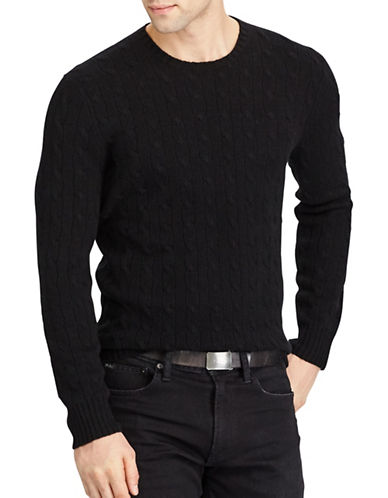 Polo Ralph Lauren Cable-Knit Cashmere Sweater-POLO BLACK-X-Large