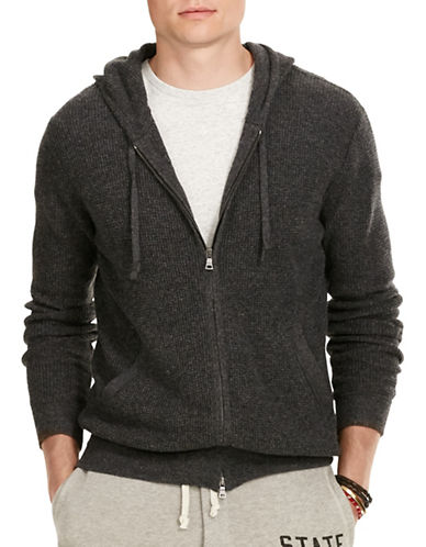 Polo Ralph Lauren Merino Wool Full-Zip Hoodie-CHARCOAL-Small 88523908_CHARCOAL_Small