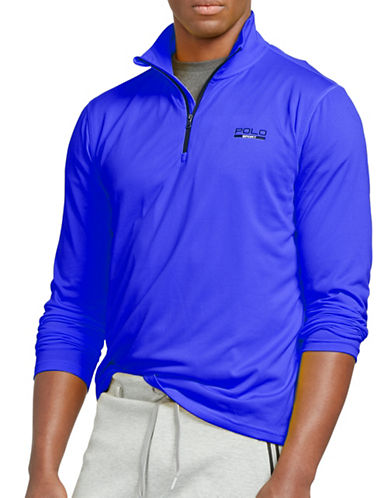 Polo Sport Stretch-Jersey Pullover-BLUE-X-Large 88543315_BLUE_X-Large