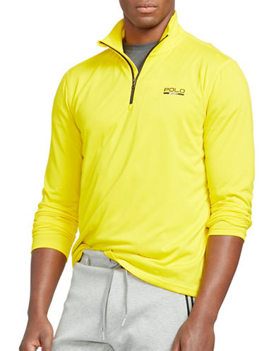 Polo Sport Stretch-Jersey Pullover Sweatshirt-YELLOW-Large 88543317_YELLOW_Large