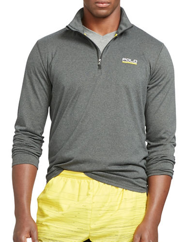Polo Sport Stretch-Jersey Pullover Sweatshirt-BARCLAY HEATHER-XX-Large