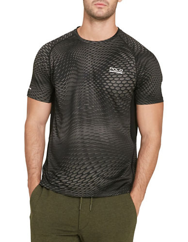 Polo Sport Micro-Dot Jersey T-Shirt-BLACK-Small 88543439_BLACK_Small