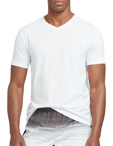 Polo Sport Jersey V-Neck T-Shirt-PURE WHITE-XX-Large 88543461_PURE WHITE_XX-Large