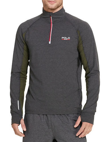 Polo Sport Jersey Mock Neck Pullover-BARCLAY HEATHER-Medium 88543528_BARCLAY HEATHER_Medium