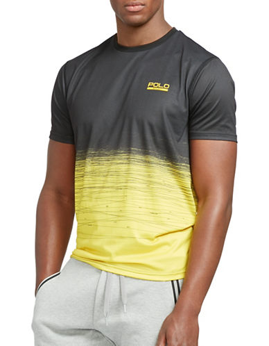 Polo Sport Performance Jersey Scratch Print Colourblock T-Shirt-YELLOW-XX-Large 88543600_YELLOW_XX-Large