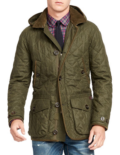 Polo Ralph Lauren Wool-Blend Down Skeet Jacket-ARMADILLO GREEN-X-Large