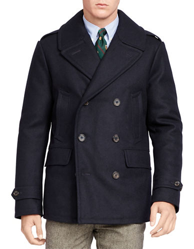 Polo Ralph Lauren Wool-Blend Down Peacoat-COLLECTION BLUE-XX-Large