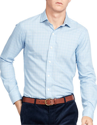 Polo Ralph Lauren Glen Plaid Twill Estate Shirt-BLUE/CREAM-Large