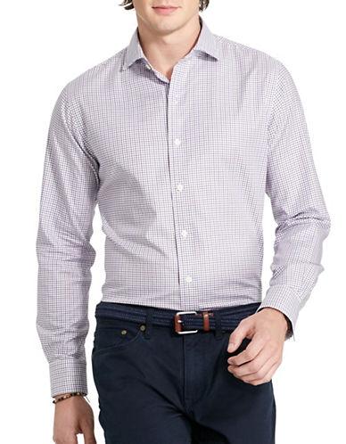 Polo Ralph Lauren Tattersall Twill Estate Shirt-PURPLE/NAVY-Small