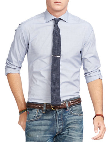 Polo Ralph Lauren Slim-Fit Stretch-Poplin Madison Shirt-BLUE/WHITE-X-Large