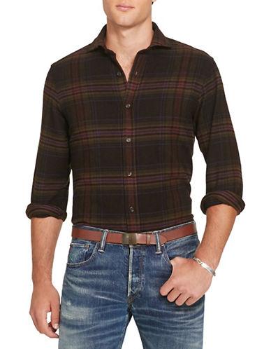 Polo Ralph Lauren Plaid Cotton-Wool Shirt-LEAF/PURPLE-XX-Large
