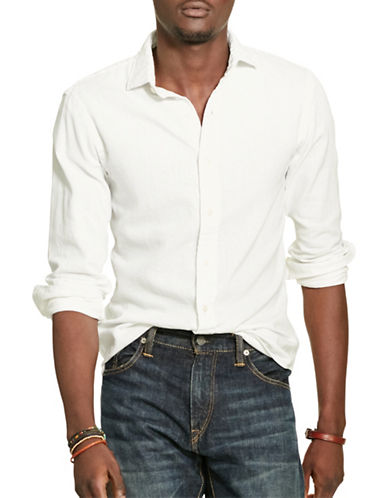 Polo Ralph Lauren Slim-Fit Twill Estate Shirt-WHITE-X-Large