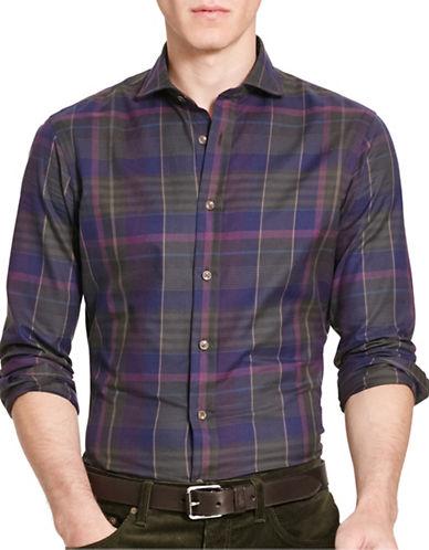 Polo Ralph Lauren Slim-Fit Plaid Twill Shirt-HUNTER/BURGUNDY-X-Large
