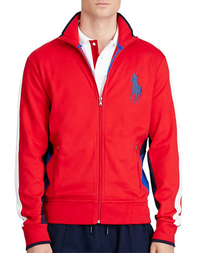 Polo Ralph Lauren Cotton Interlock Track Jacket-RED-X-Large 88526270_RED_X-Large