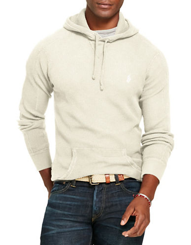 Polo Ralph Lauren Waffle-Knit Cotton Hoodie-NEVIS-Large