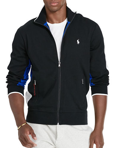 Polo Ralph Lauren Cotton Interlock Track Jacket-POLO BLACK-XX-Large 88525968_POLO BLACK_XX-Large