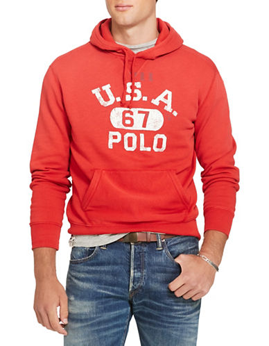 Polo Ralph Lauren Cotton-Blend-Fleece Logo Hoodie-RED-Medium 88526000_RED_Medium