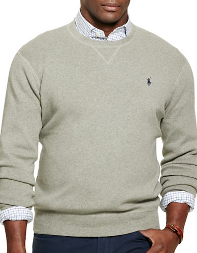 Polo Ralph Lauren Combed Cotton Sweatshirt-FAWN GREY-4X Tall