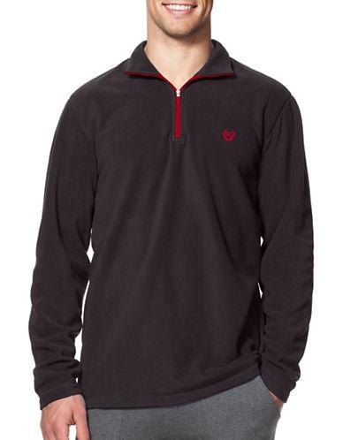 Chaps Mock Neck Fleece Pullover-BLACK-Small 88690231_BLACK_Small