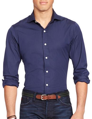 Polo Ralph Lauren Slim-Fit Stretch-Poplin Estate Shirt-NAVY-Small