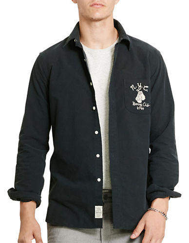 Polo Ralph Lauren Embroidered Oxford Sport Shirt-POLO BLACK-XX-Large 88449902_POLO BLACK_XX-Large
