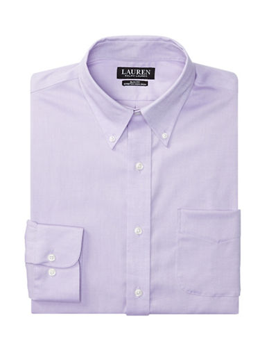 Lauren Green Slim-Fit Oxford Dress Shirt-LAVENDER-17-32/33