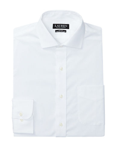 Lauren Green Slim-Fit Estate Dress Shirt-WHITE-17-32/33