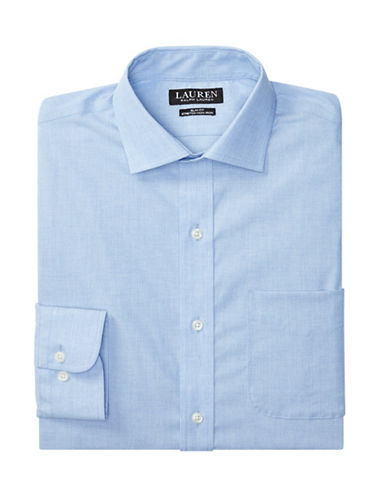 Lauren Green Slim-Fit Estate Dress Shirt-BLUE/WHITE-16-32/33