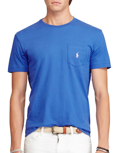 Polo Ralph Lauren Jersey Pocket Crew Neck T-Shirt-CLC ROYAL-XX-Large 88687970_CLC ROYAL_XX-Large