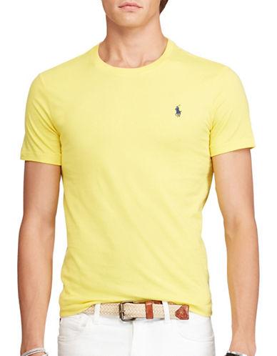 Polo Ralph Lauren Custom-Fit Cotton T-Shirt-YELLLOW-XX-Large