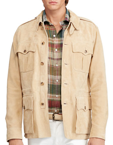 Polo Ralph Lauren Suede Safari Jacket-NATURAL-X-Large 88695712_NATURAL_X-Large