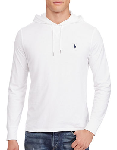 Polo Ralph Lauren Featherweight Pima Cotton Hoodie-WHITE-XX-Large 88695813_WHITE_XX-Large