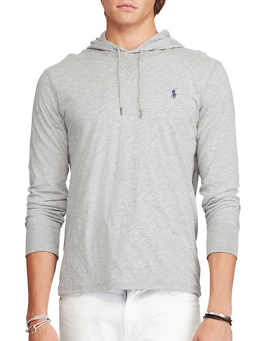 Polo Ralph Lauren Featherweight Pima Drawstring Hoodie-ANDOVER HEATHER-XX-Large