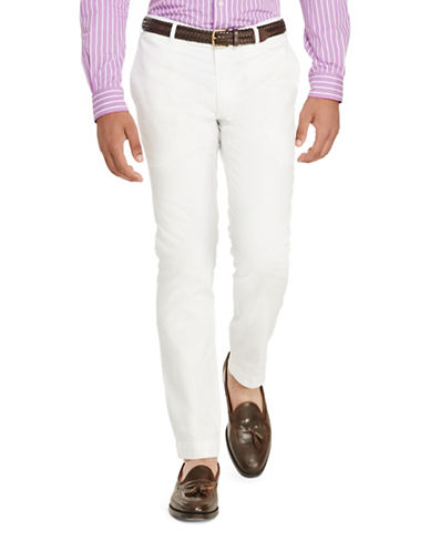 Polo Ralph Lauren Tailored Slim Fit Pima Chino-WHITE-34X30